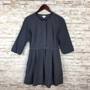 Gap navy/white dots fit & Flare pleated Dress Sz 2